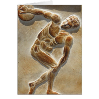 Ancient Greek Discus Thrower -  Discobolus Card