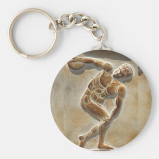 Ancient Greek Discus Thrower -  Discobolus Key Ring