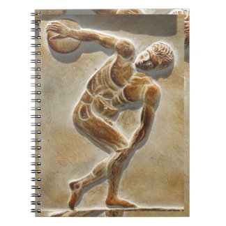 Ancient Greek Discus Thrower -  Discobolus Spiral Notebook
