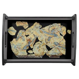 ancient greek fish painting fresco art mural resto serving tray