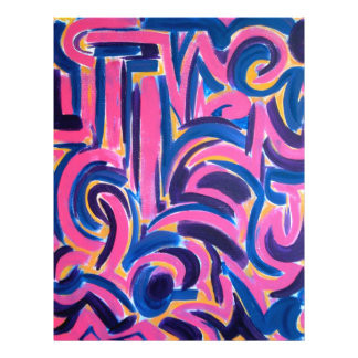 Ancient Greek Graffiti - Abstract Art 21.5 Cm X 28 Cm Flyer
