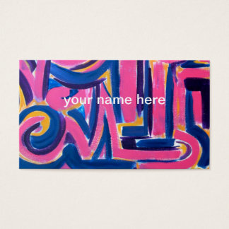 Ancient Greek Graffiti - Abstract Art Handpainted Business Card