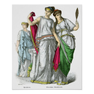 Ancient Greek Priestess and Noble Women Poster