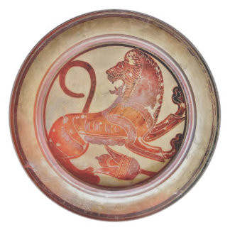 Ancient Greek Roaring Lion Plate