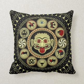 Ancient Greek shield designs combination Cushion