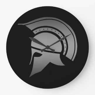 Ancient Greek Spartan Helmet Large Clock