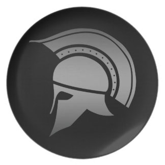 Ancient Greek Spartan Helmet Plate