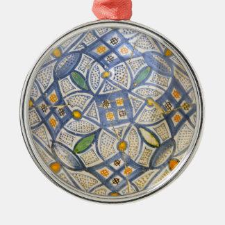 ancient greek symbol ceramic ethnic motif clay myt Silver-Colored round decoration