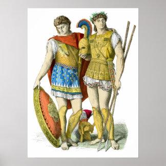 Ancient Greek Warriors Poster