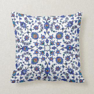 Ancient Handmade Turkish Floral Tiles Pattern Cushion