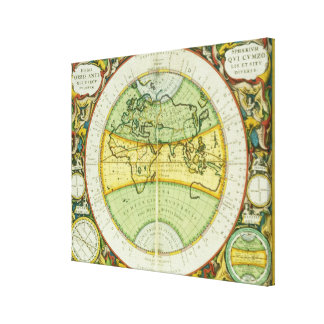 Ancient Hemispheres of the World, plate 94 from 'T Canvas Print