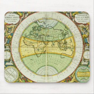 Ancient Hemispheres of the World, plate 94 from 'T Mouse Mat