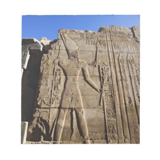 Ancient hieroglyphs on wall, Temple of Karnak, Notepads