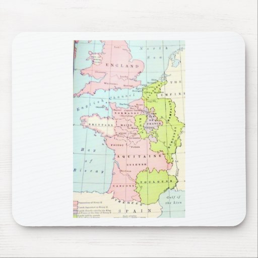 Ancient Historical Map Europe Normandy Aquitaine Mouse Pads