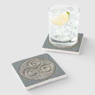 Ancient Image Of A Triskelion Set on Welsh Slate Stone Coaster
