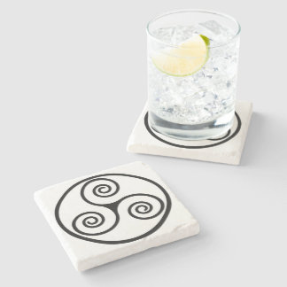 Ancient Image Of A Triskelion Stone Coaster