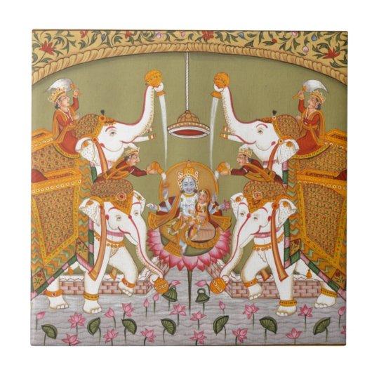 ANCIENT INDIAN PAINTING LORD VISHNU HINDU DEITY SMALL