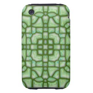 Ancient Jade Mosaic Tough iPhone 3 Case