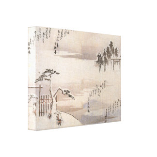 Ancient Japan in the Snow Canvas Print