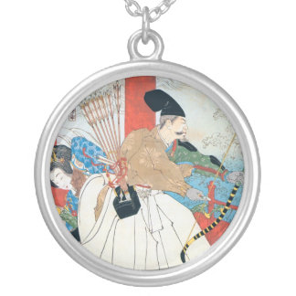 Ancient Japanese Archer Painting Necklace