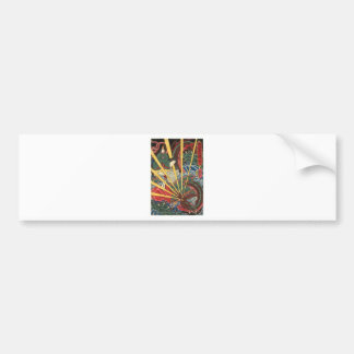 Ancient Japanese Dragon Painting circa 1860's Bumper Sticker