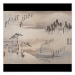 Ancient Japanese Painting Circa 1800's Print