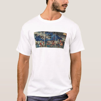 Ancient Japanese Painting of Samurai and Mongols T-Shirt