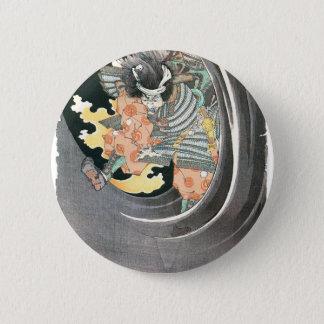 Ancient Japanese Samurai Painting 6 Cm Round Badge