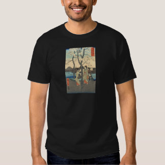 Ancient Japanese Women under Cherry Blossoms T-shirts