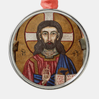 Ancient Jesus Mosaic Christmas Ornament