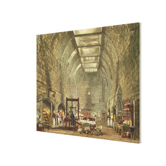 Ancient Kitchen, Windsor Castle, engraved by Willi Canvas Print