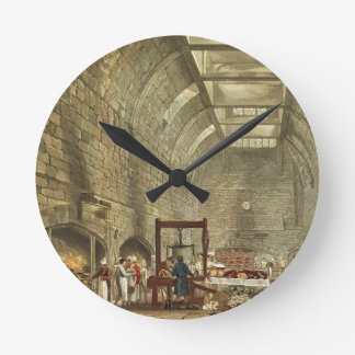 Ancient Kitchen, Windsor Castle, engraved by Willi Round Clock
