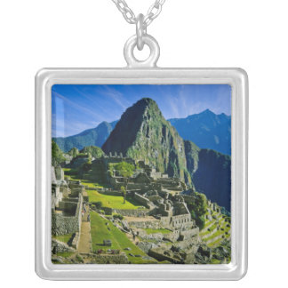 Ancient Machu Picchu, last refuge of the 2 Silver Plated Necklace