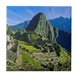 Ancient Machu Picchu, last refuge of the 2 Small Square Tile