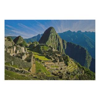 Ancient Machu Picchu, last refuge of the 2 Wood Print