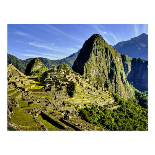 Ancient Machu Picchu, last refuge of the Postcard