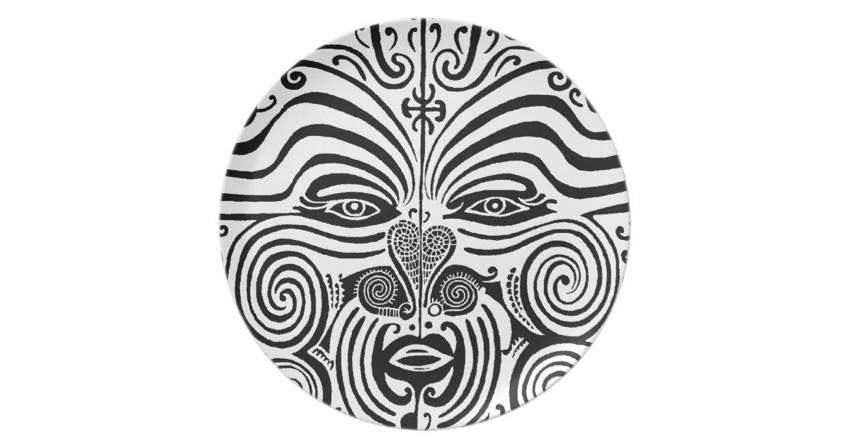 Maori Tattoo Uk: Ancient Maori Tribal Tattoo From New Zealand Dinner Plate