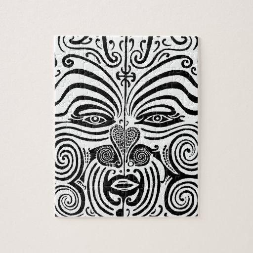 Maori Tattoo Uk: Ancient Maori Tribal Tattoo From New Zealand Jigsaw
