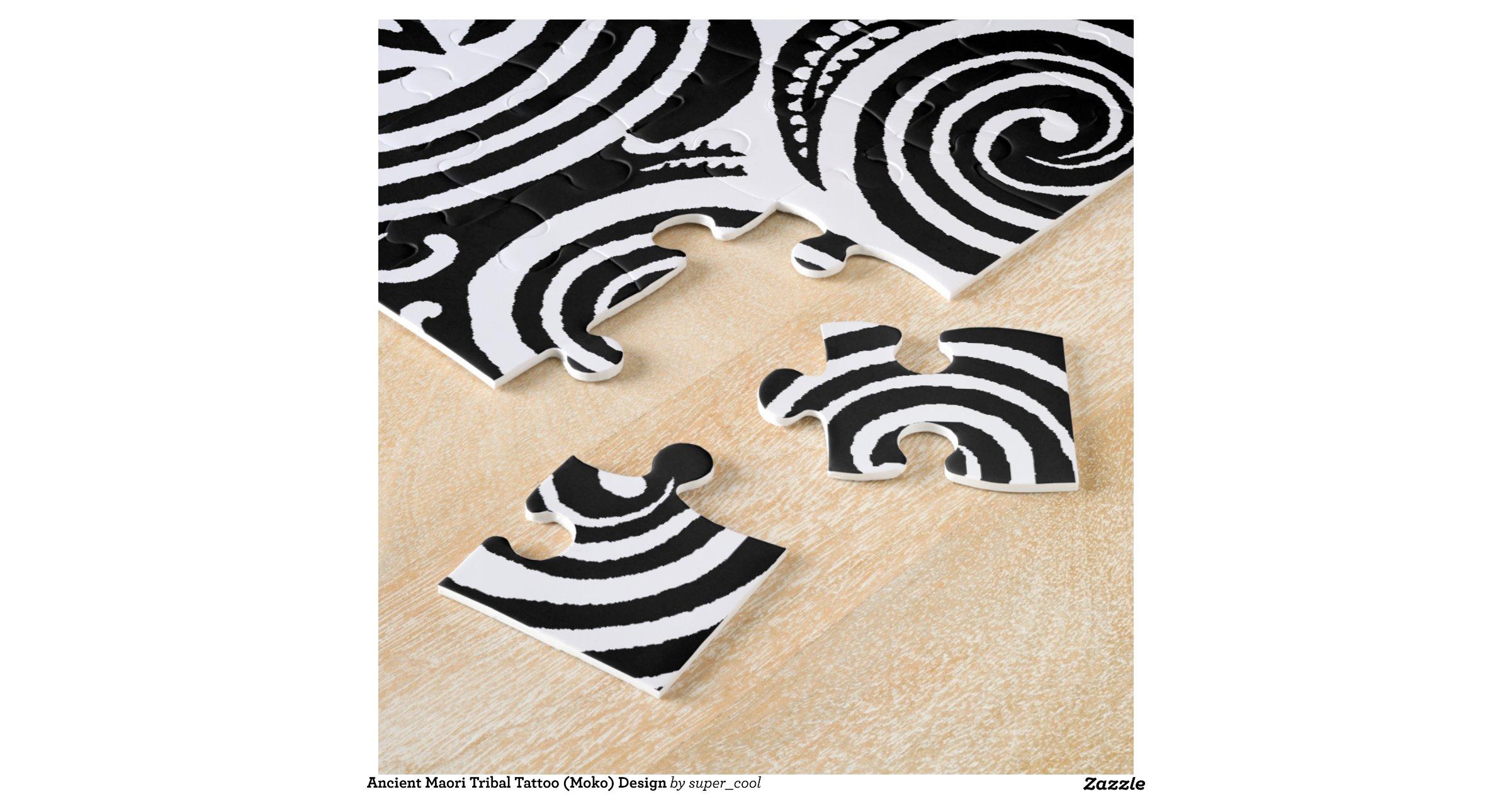 Maori Tattoo Uk: Ancient Maori Tribal Tattoo (Moko) Design Jigsaw Puzzle