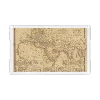 Ancient Map Acrylic Tray