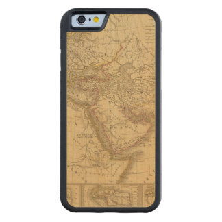 Ancient Map Carved Maple iPhone 6 Bumper Case