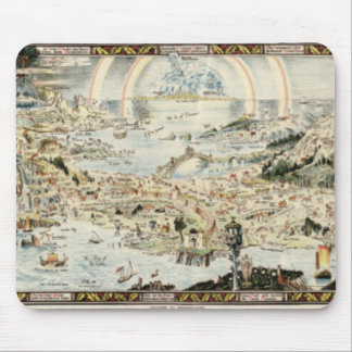 Ancient map of Fairyland by Bernard Sleigh Mouse Pads