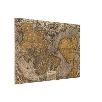 Ancient Map of The World (1531) Canvas Print