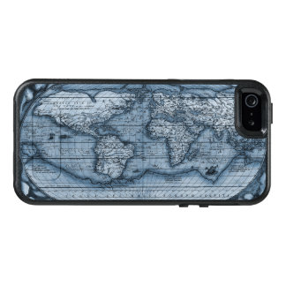 Ancient Map Of The World In Blue OtterBox iPhone 5/5s/SE Case