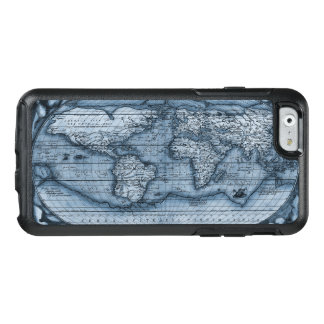 Ancient Map Of The World In Blue OtterBox iPhone 6/6s Case