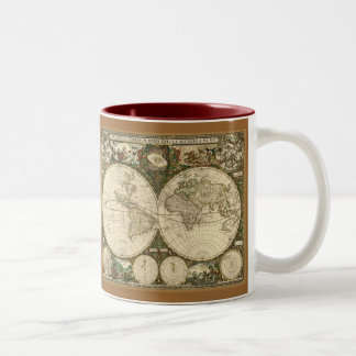 Ancient Map Series Two-Tone Mug