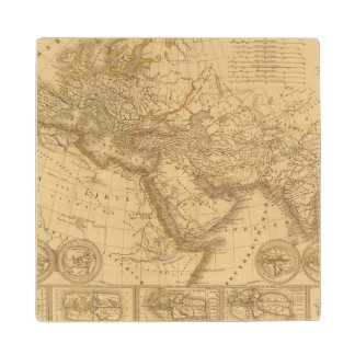 Ancient Map Wood Coaster