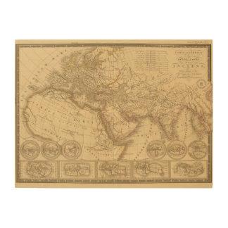 Ancient Map Wood Print