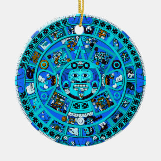 Ancient Mayan Aztec Symbol - End of World ?! Christmas Ornament