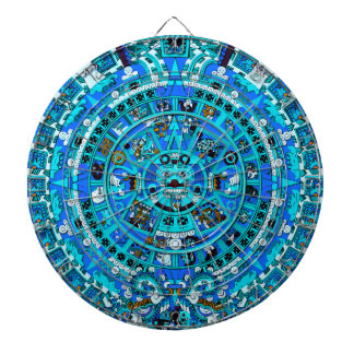 Ancient Mayan Prophetic Design Dartboard ~